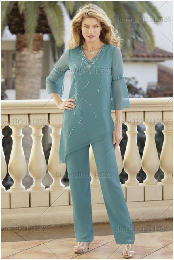 New Arrival Chiffon Two Piece Mother of the Bride Pant Suits Custom Made Fashion Long Sleeves Mother Dresses Plus Size Women Dresses J1114 Online with $106.81/Piece on Caradress's Store | DHgate.com