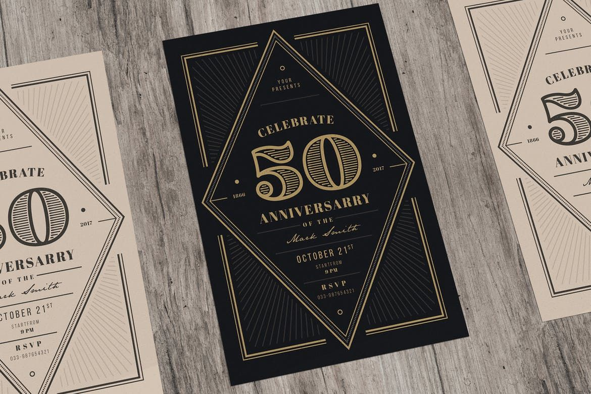Vintage Anniversary Invitation By Guuver On Anniversary