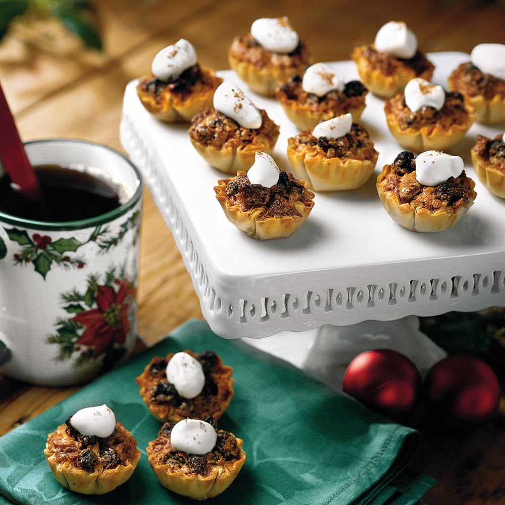 Pecan-Raisin Mini-Tarts | MyRecipes