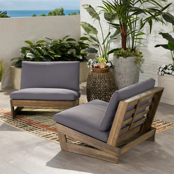 Emma Modern Low To Ground Outdoor Pallet Lounge Chairs Set Of 2 Club Chairs Outdoor Deck Furniture Patio Furniture Deals Best deals on outdoor furniture