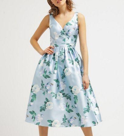 Chi Chi London Tanya Sukienka Midi W Kwiaty Rozszerzana Multi Fashyou Pl Dresses Summer Dresses Mid Dresses