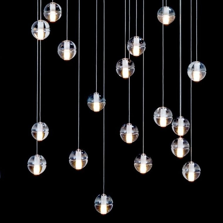 lamparas de techo colgantes con bolasde luz - Lamparas De Techo Colgantes