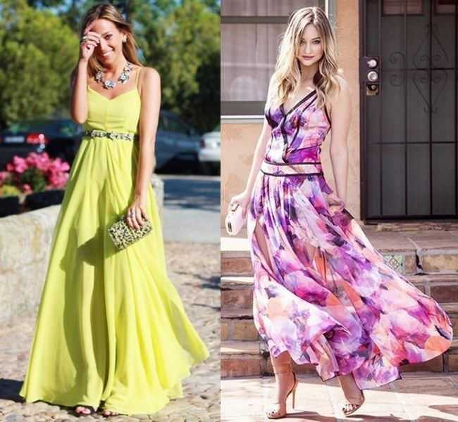 Summer maxi dresses for weddings