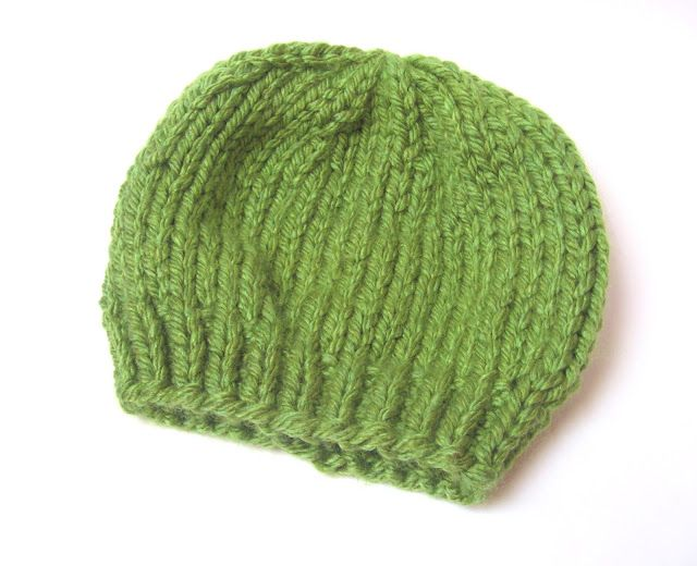 Free Knitting Pattern: Easy Chunky Knit Beanie Hat ...