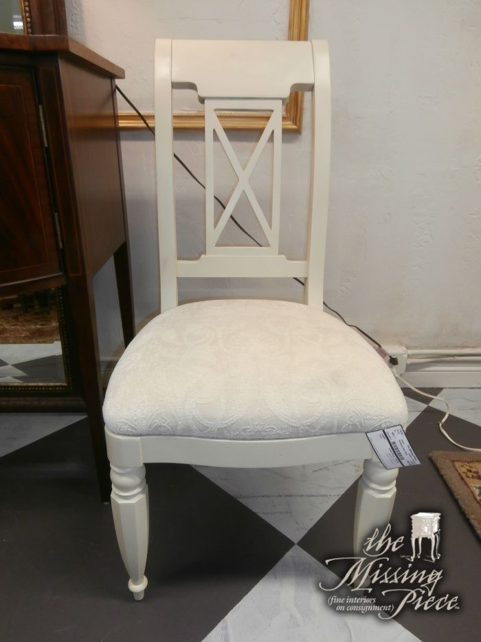 Armless Side Chair In White. Two In Store At Time Of Posting. Perfect Desk