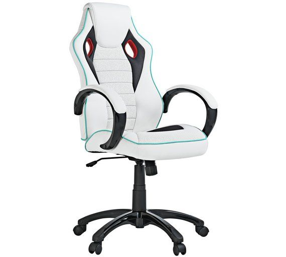 X Rocker Height Adjule Office Gaming Chair White At