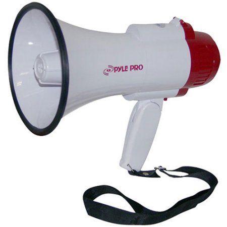 Bullhorn Megaphone Microphone Speaker Crowd Control Siren Outdoor Rechargeable