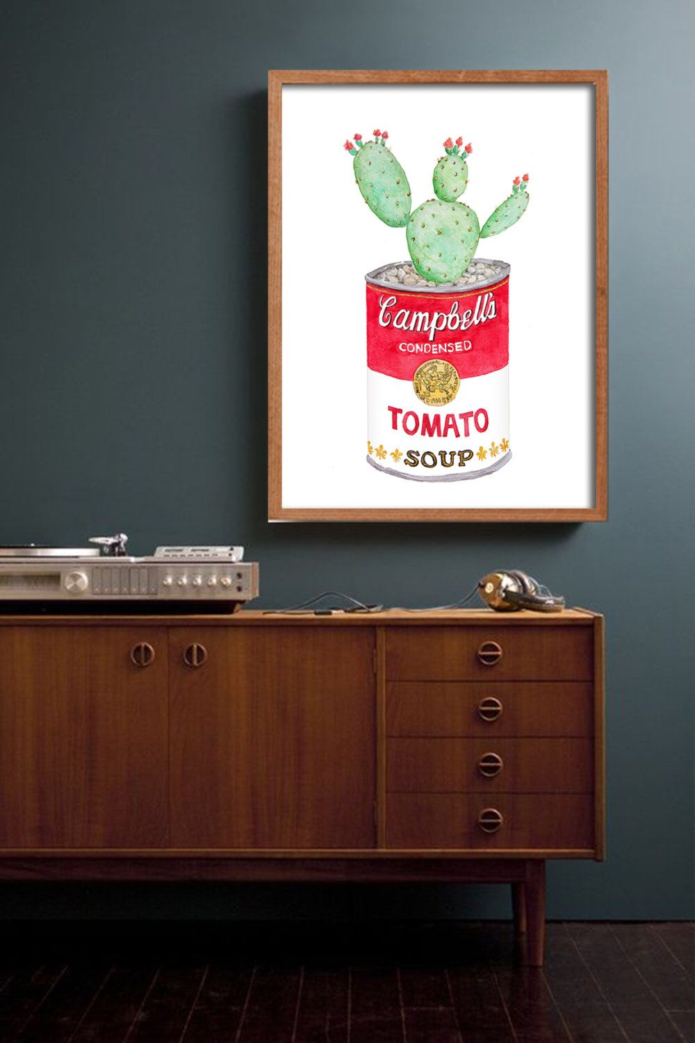 Campbellu0027s Soup Cactus Poster PRINTABLE FILE: Andy Warhol Inspired Campbell,  Kitchen Decor, Retro Kitchen, Kitchen Art, Cactus Art,food Art