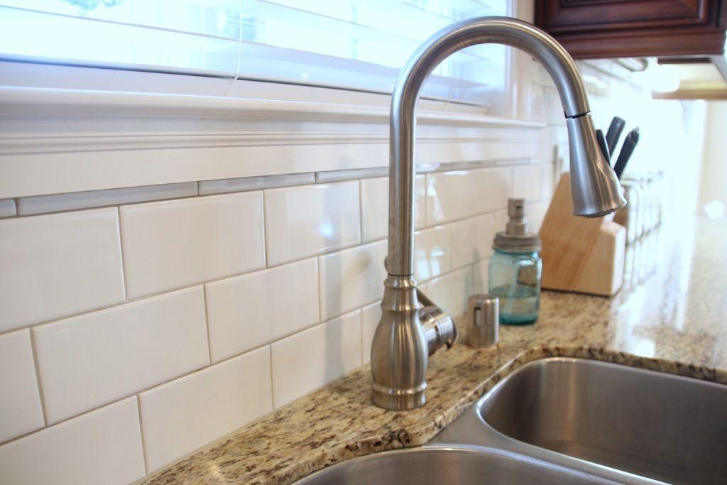 White Tile Antique White Grout Kitchen Backsplash Kitchen Redo White Subway Tile Backsplash