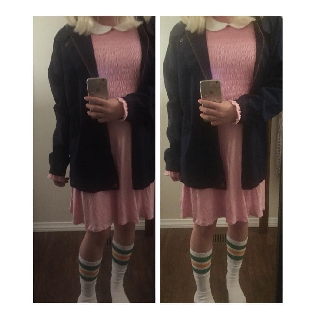 Pink dress from stranger things  The jacket is something Id really wear so catch me wearing it at