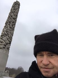 'I hit the brilliant Gustav Vigeland's sculpture garden today. This is where we meet my friend Michael Fassbender's character in the film I'm here doing a cameo in. It's called SNOWMAN. Even though Oslo was the coldest place in all of Europe two days ago, I'd happily spend a couple of months here, to hang out with Michael and my new friend Tomas Alfredson, who is as kind and sensitive a director as one could ever ask for. He did an incredible job in TINKER TAILOR SOLDIER SPY, and was…