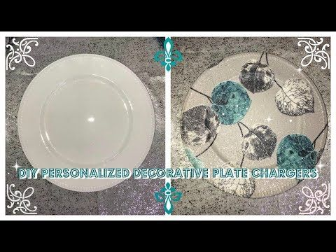 a4160ab8012dc12ef2ee0313ac073381.jpg & 2) DIY - PERSONALIZED DECORATIVE PLATE CHARGER (DOLLAR TREE CHARGER ...