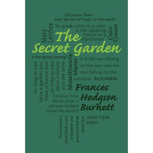 Amazon.com: The Secret Garden (Word Cloud Classics): Frances Hodgson Burnett book cover