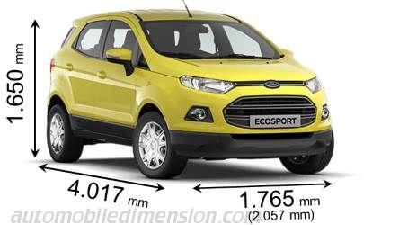 Dimensioni Ford Ecosport 2016 Con Lunghezza Larghezza E