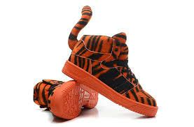 Striped Tiger Sneakers   Jeremy scott adidas, Winter running