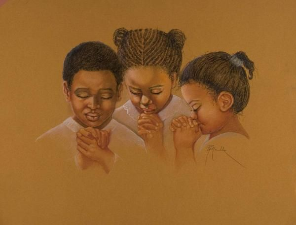 children praying fine art | African American Sunday School ...