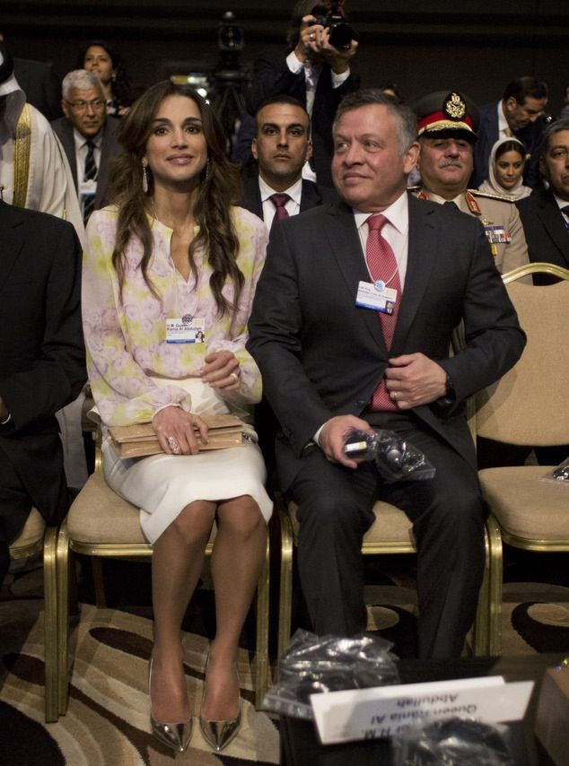 Jordan S King Abdullah Ii And Queen Rania Attend The Opening Session Of The World Economic Forum At The K Queen Rania Her Majesty The Queen Jordan Royal Family