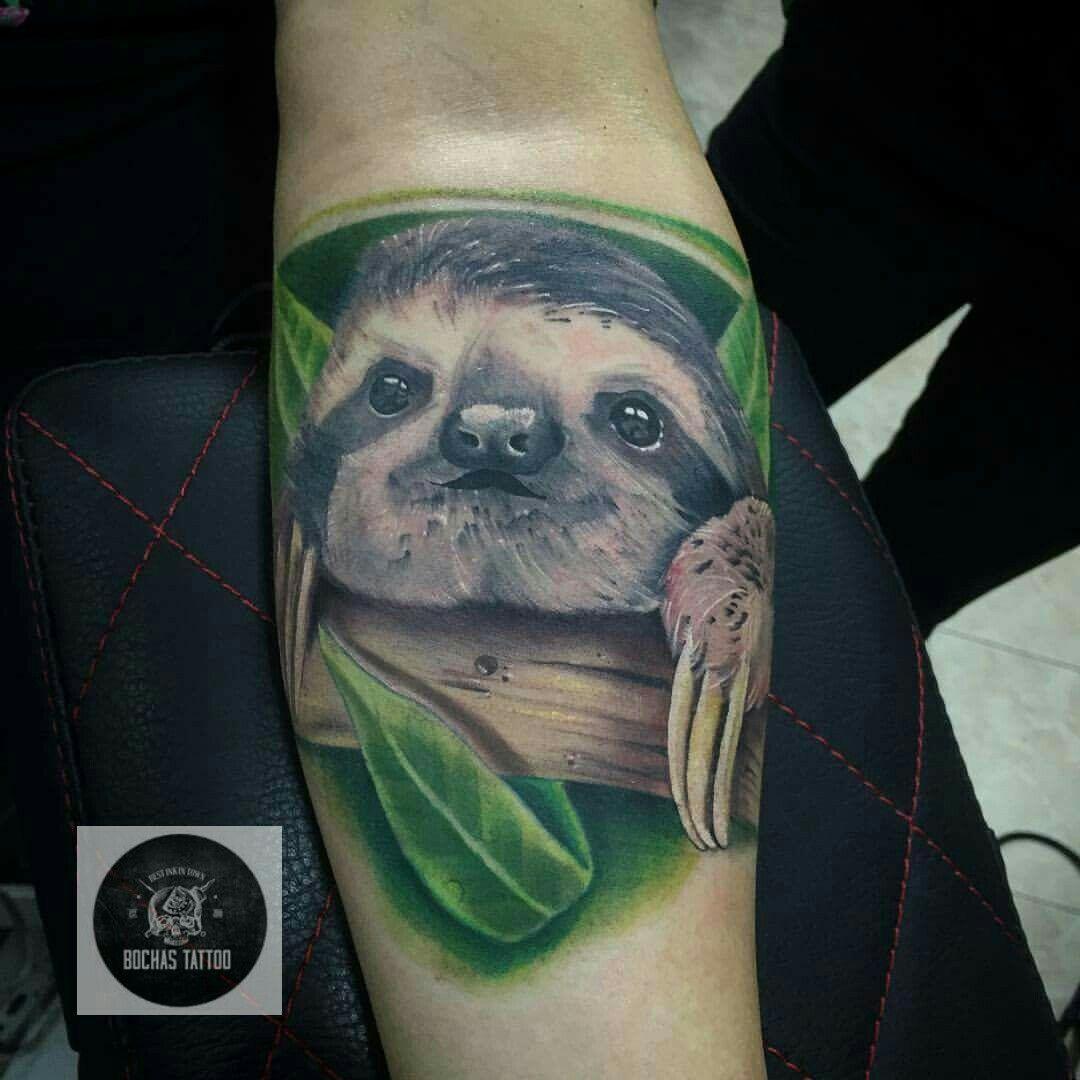 Oso perezoso tattoo @bochastattoo ink Colombia Bogotá | Tattoos by ... - Tattoo Studio Bielefeld