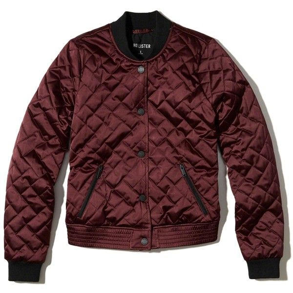 Hollister Quilted Nylon Bomber Jacket 70 Liked On Polyvore