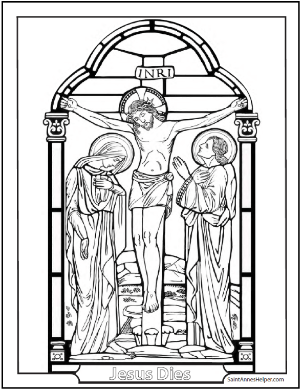 Good Friday Coloring Page  Crucifixion of jesus Lent and The ojays