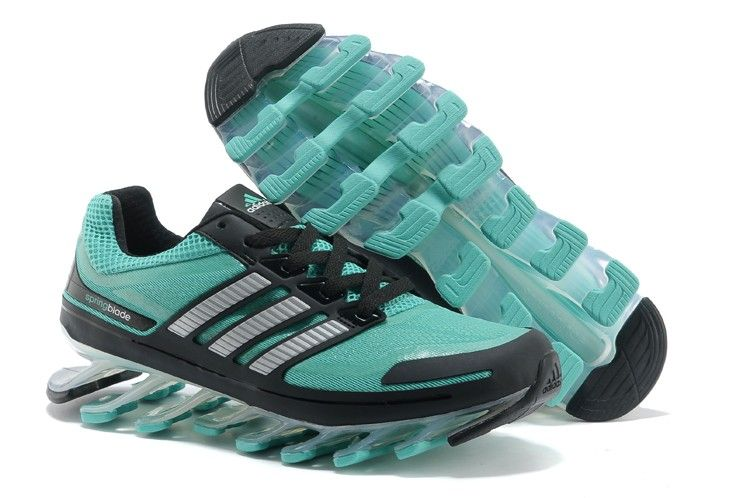 Men Stylish Adidas Springblade 2015 Blue Gray Running Shoes