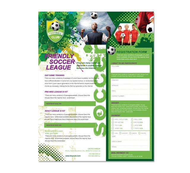 Soccer Club Flyer Template HttpWwwDlayoutsComTemplate