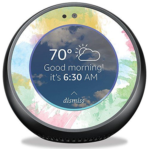 Skin For Amazon Echo Spot Watercolor White Mightyskins Protective