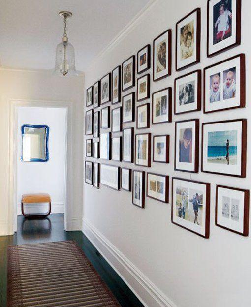 8 ideas cool para enmarcar tus fotos pasillos cuadro y for Enmarcar cuadros en casa