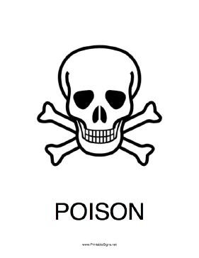 Printable Poison Sign Poison Sign Symbol Drawing Poison Symbol