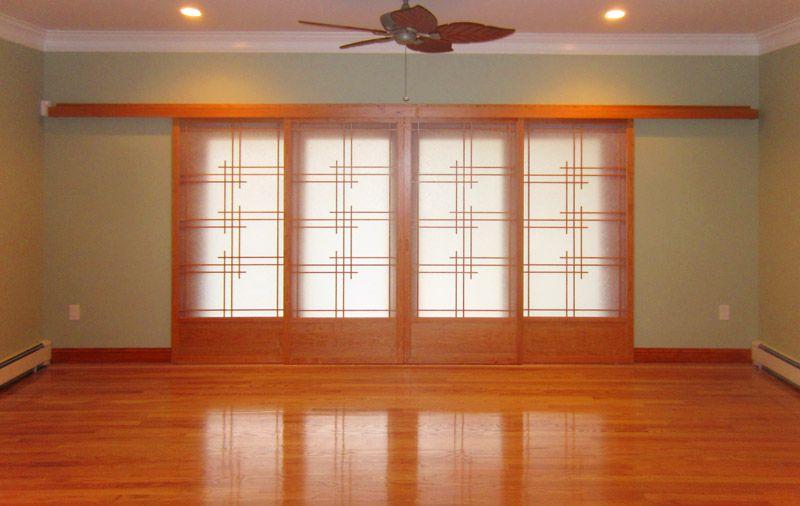 Cherry tree design japanese sliding doors sliding shoji - Puertas shoji ...