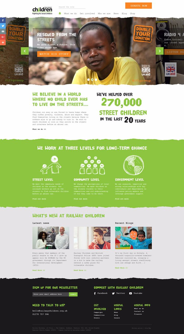 35 best charity and non profit websites inspiration web design