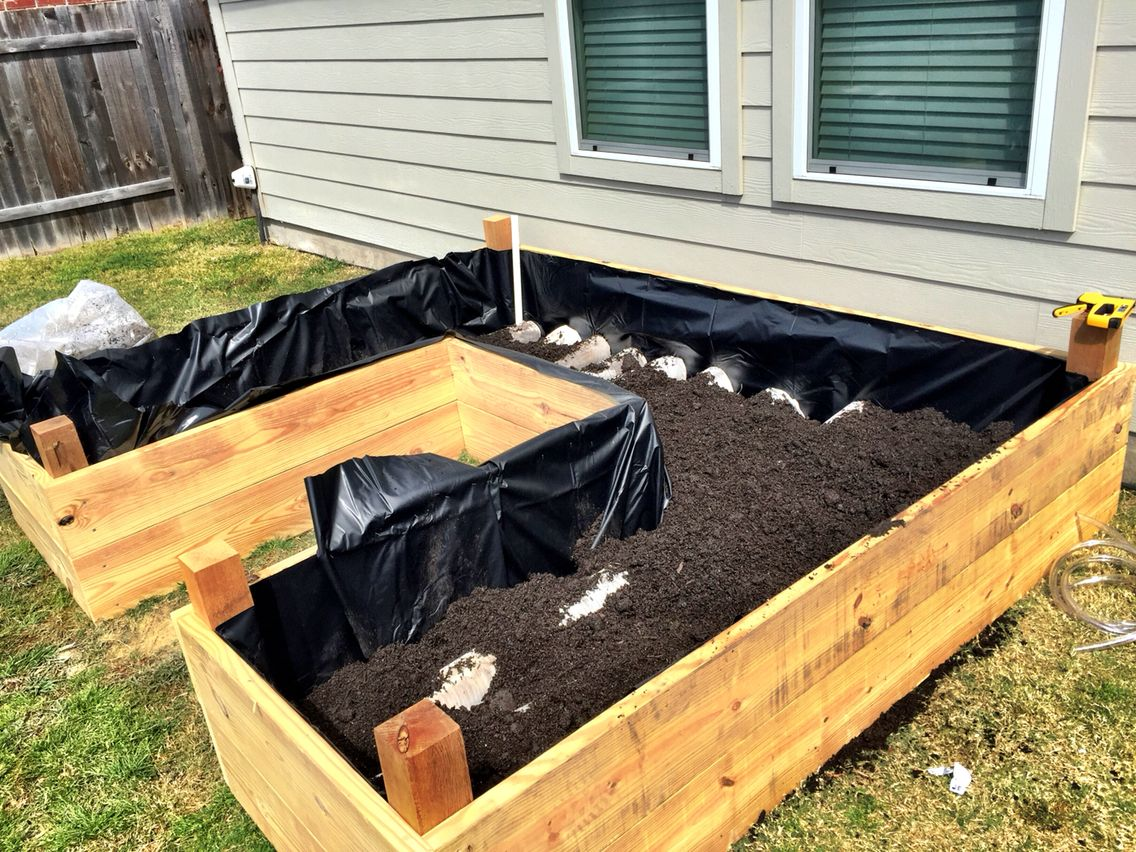 Pin On Sub Irrigated Raised Flower Bed Vegetable Garden