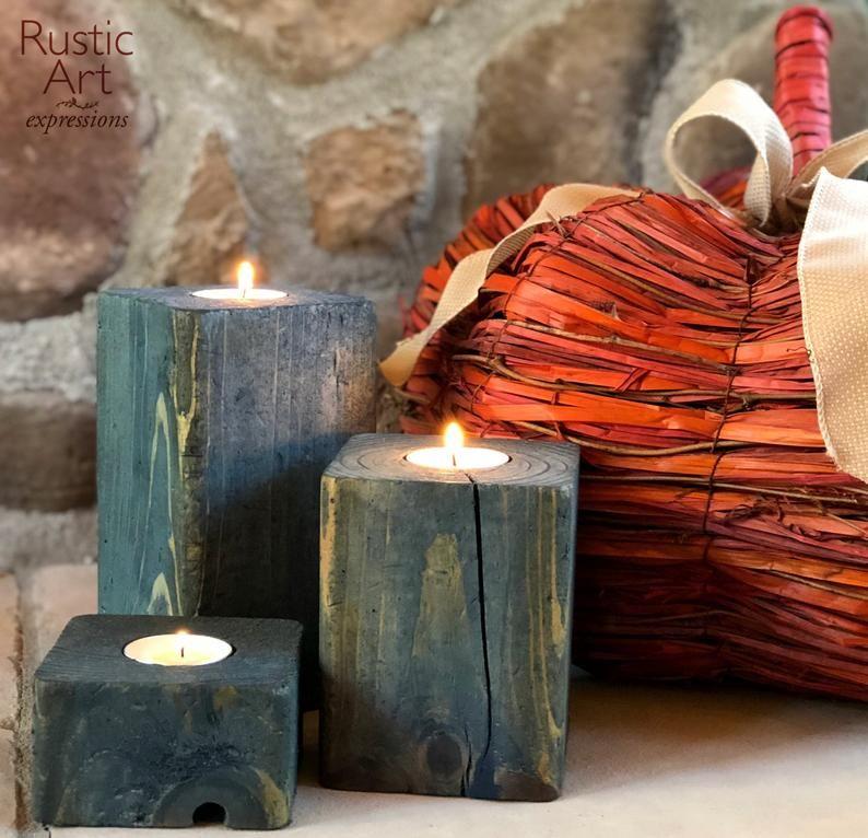 farmhouse candle holders set of 3