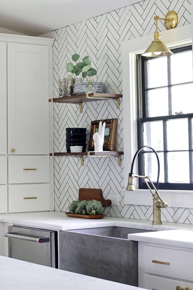 10 Herringbone Kitchen Backsplash Ideas Better Tha
