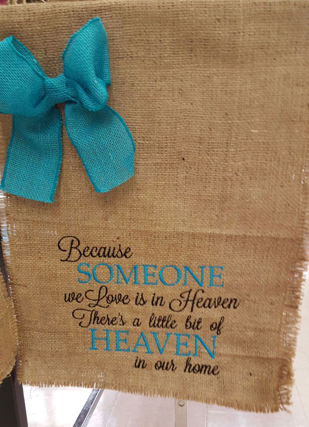 Someone\'s in Heaven Flag, Mother\'s Day Gift, Garden Flag, Burlap ...