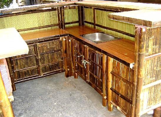 Real Bamboo Tiki Bars For Home Or Business Kitchen Bar Design Bamboo House Design Bamboo House