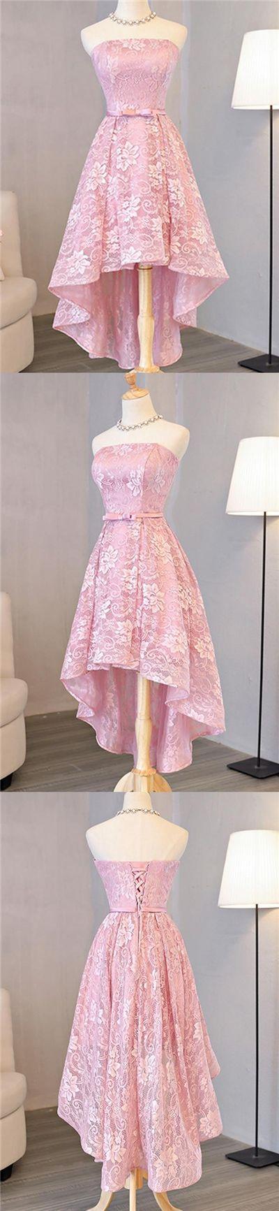 2017 Homecoming Dress Beautiful Lace Asymmetrical Short Prom Dress Party Dress JK240