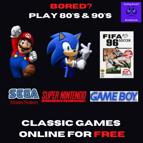 Play for 100% free the classic games such as Super Mario, Tetris and Sonic the Hedgehog from the comfort of your own couch #nintendo #sonic #mario #bored #boredom #fun #humor boredaf #games #freegames #funstuff #80's #90's #gameboy #retrogames