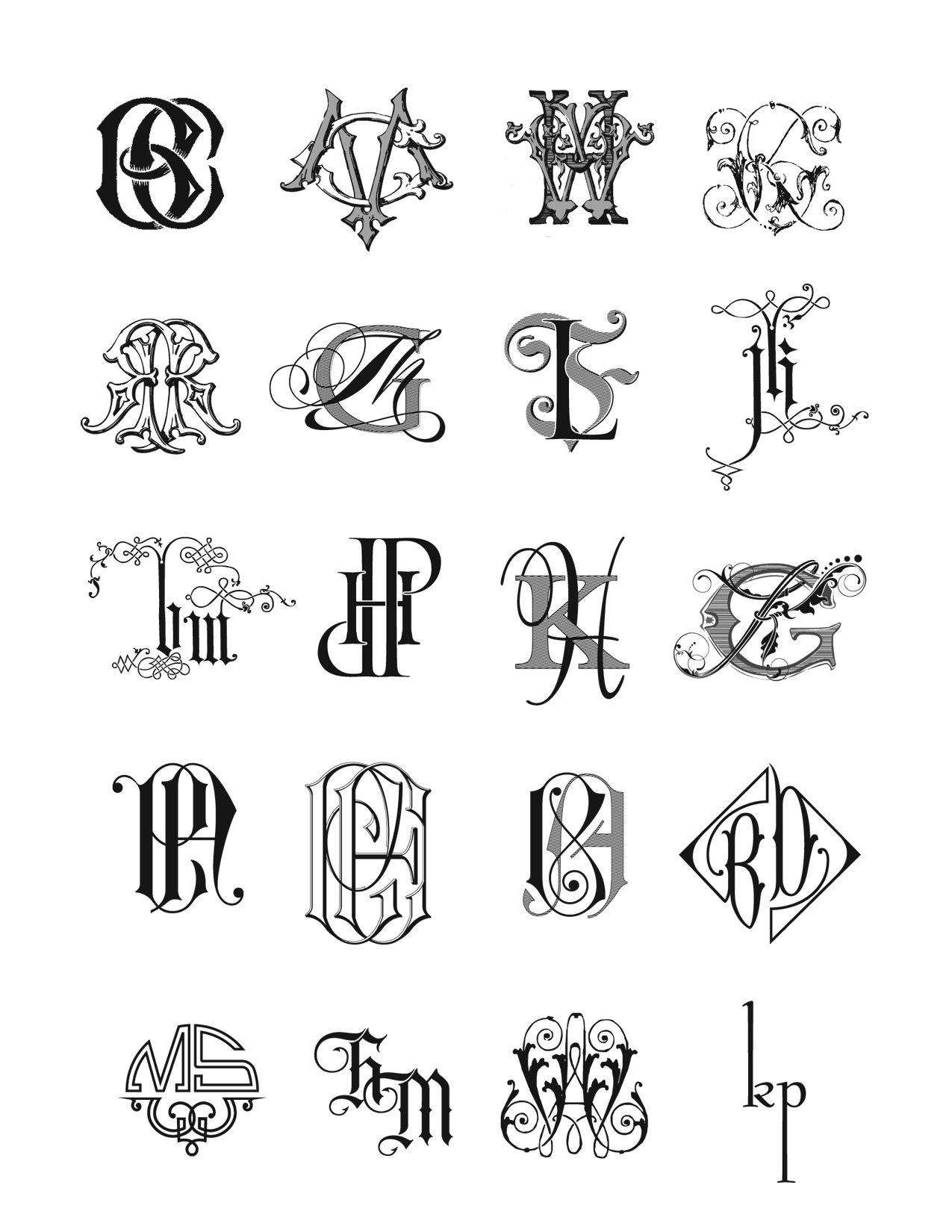 Image Gallery Monogram Initials