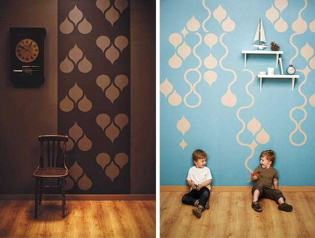 Tear Off Wallpaper Paste It And Them Cut Out Your Design Cool