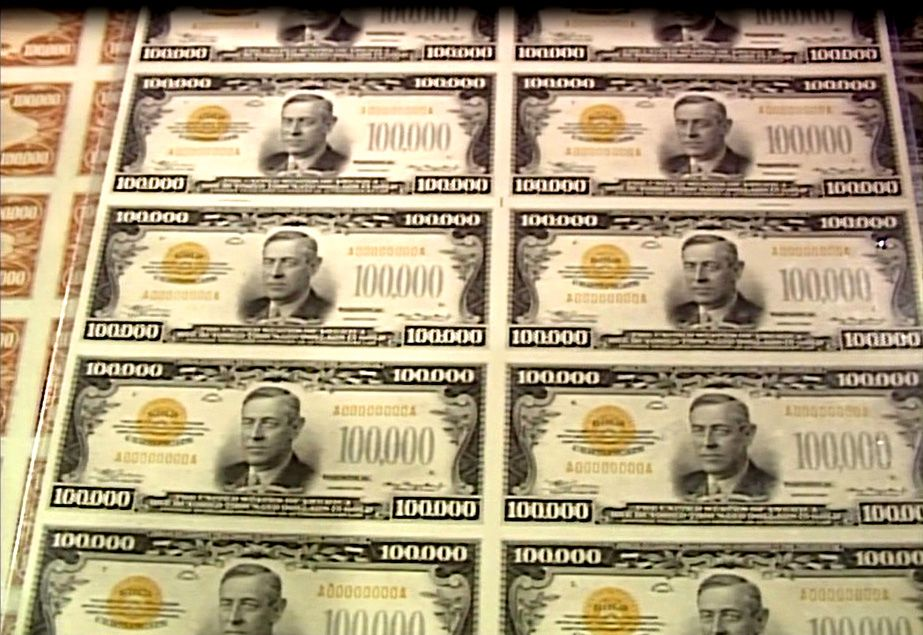 $100,000 Uncut Sheets | Money; paper and coins | Pinterest