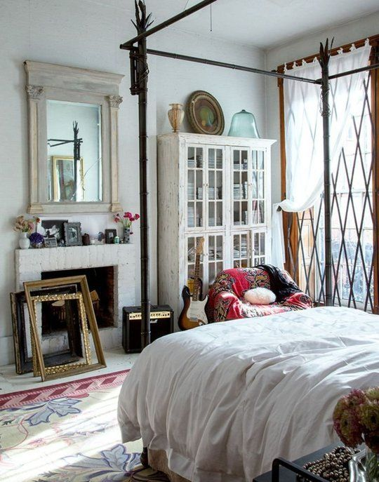 Beautifully Eclectic 11 Bedrooms That Are the Opposite of Boring is part of Bohemian bedroom Apartment - Who says bedrooms have to be boring