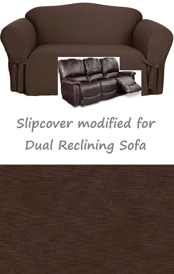 Dual Reclining Sofa Slipcover Cotton