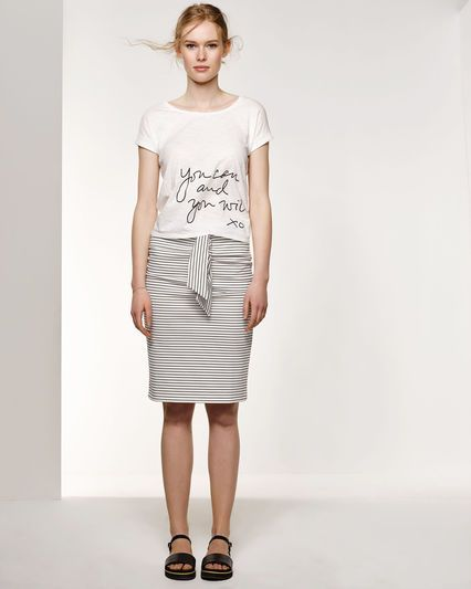 tricot rok wit