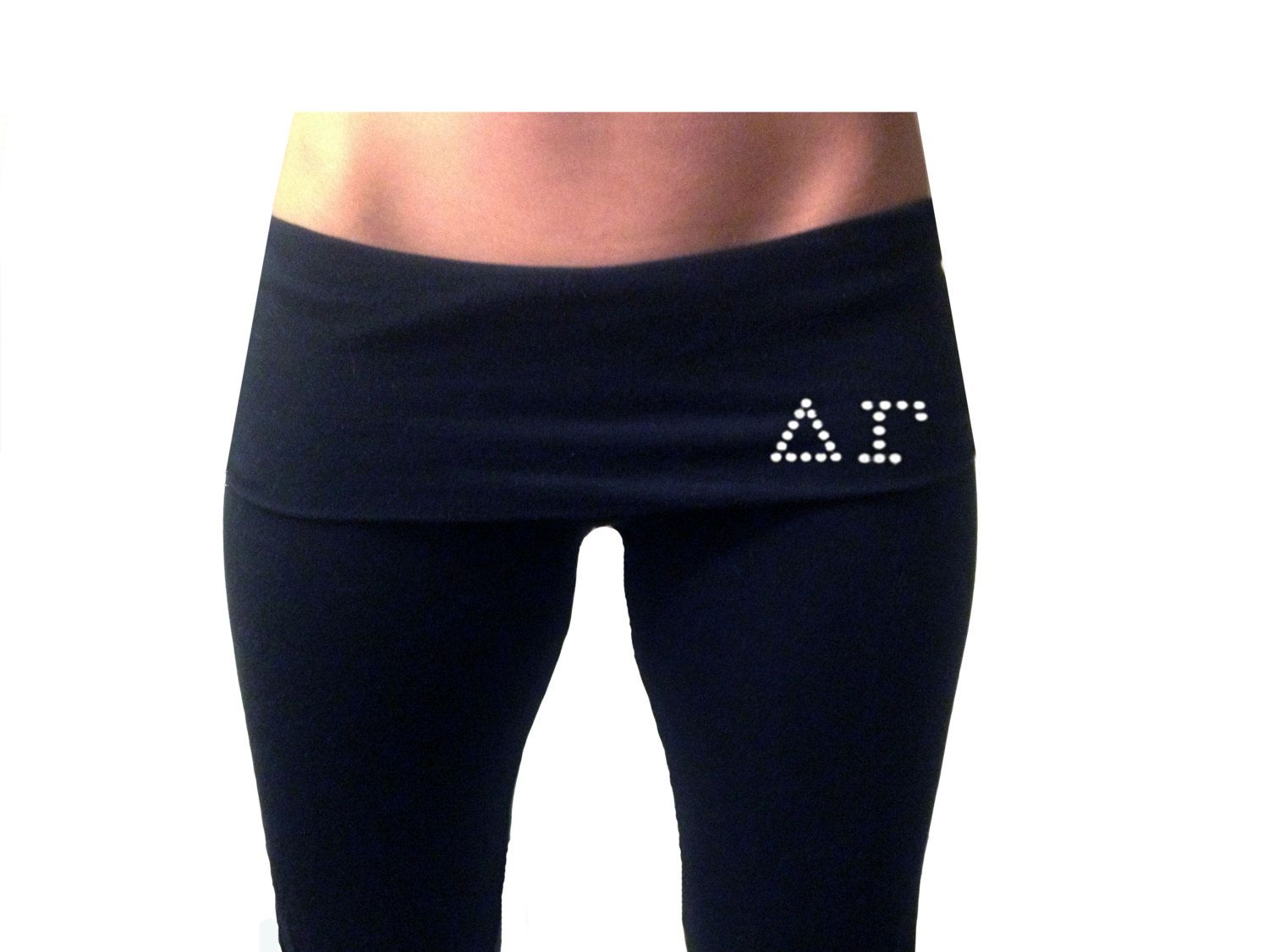 Customized Yoga Pants with Sororities Letters on Front by LoveGreekLife on Etsy