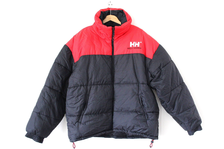 Vintage Helly Hansen Down Jacket Black Red Down Puffer Hip Etsy In 2021 Jackets Down Jacket Hip Hop Streetwear [ 2000 x 3000 Pixel ]