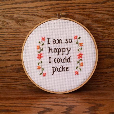 PDF Pattern: Subversive cross stitch I Am So by TheCompassNeedle
