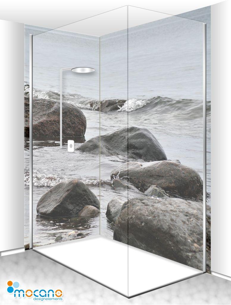Duschbereich Als Wellnessoase Im Badezimmer Durch Eine Duschruckwand Duschruckwand Badezimmer Haus Bodenbelag