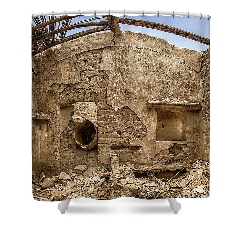 Ruin With Small Plant Shower Curtain for Sale by Johan Bollen ...
