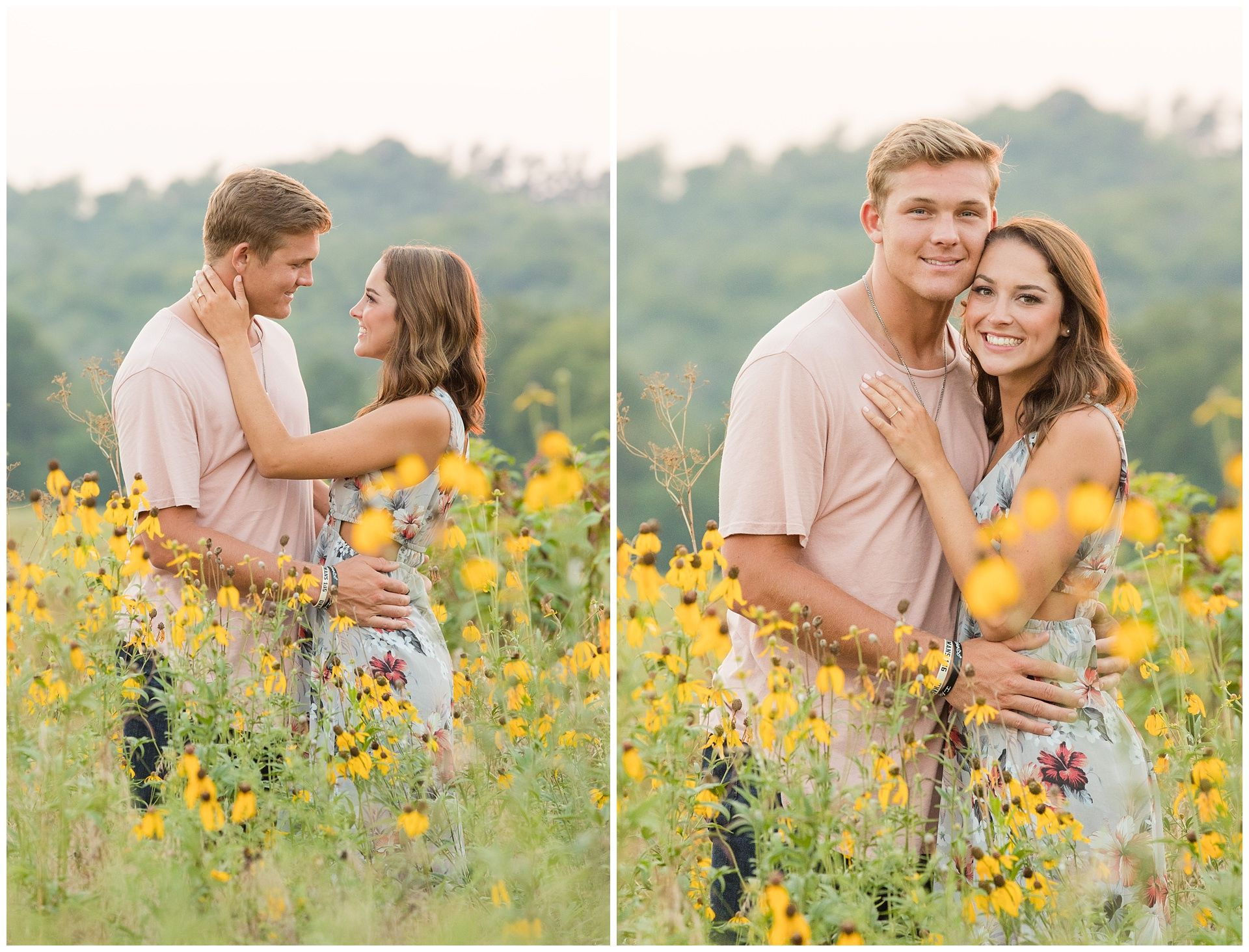 Summer Wildflower Engagement Session at Shaker Village in
